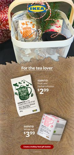 It's tea time! Make the tea lover in your life happy with a special holiday food gift basket containing teas, fruit and herbal infusions and other items from our Swedish Food Market. Holiday Gift Baskets, Holiday Gifts, Swedish Recipes, Food Gifts, Winter Holidays, Teas, Hanukkah, Holiday Recipes, Tea Time