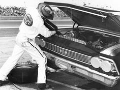 Smokey Yunick, pictured here at the 1967 Daytona 500, really knew his way around under the hood of a car.    Racing One/Getty Images