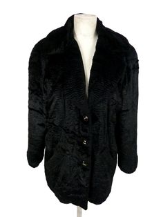 Roccobarocco women's coat black synthetic fur poncho size 32 bolero jacket di DedeCouture su Etsy