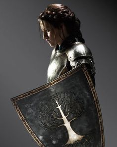 Kristen Stewart in Snow White and the Hunstsman. No matter what you thought of the show, at least she was wearing realistic armor for the final battle.