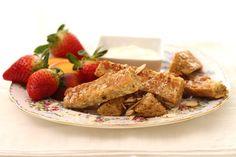 Pain doré aux amandes et noix de coco! 385 calories / 42 g glucides / 22,5 g protéines / 15 g lipides / 7 g fibres