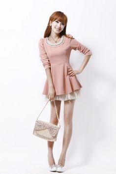 Baju Import Dress DS2905-Pink
