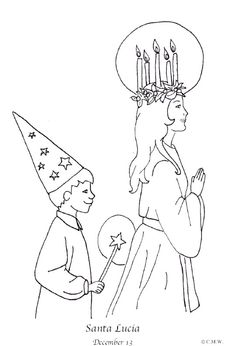 This st lucia coloring page will be great for teaching my young niece about our heritage this holiday season.