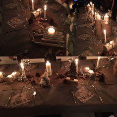 Déco de Noé bois Tea Lights, Candles, Table Decorations, Home Decor, Christmas Wood, Decoration Home, Room Decor, Tea Light Candles, Pillar Candles
