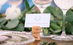 Variegated Viridity - Soiree Floral | Green and White Nantucket Wedding Wine Cork Place Card at The Westmoor Club. Photo by Gina Meola (www.ginameola.com), Floral Design: Soiree Floral (www.soireefloral.com), Event Design & Stationery: Dawn Kelly Designs (www.dawnkellydesigns.com), Venue: The Westmoor Club (www.thewestmoorclub.com), Rentals: New England Country Rentals (www.newenglandcountryrentals.com), Tent: Nantucket Tents (www.nantuckettents.com)