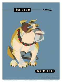 Britain, United Kingdom - English British Bulldog Posters tekijänä Harry Rogers AllPosters.fi-sivustossa