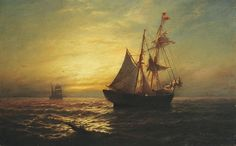 James Gale Tyler American, 1855-1931 Sunset Sail - by Doyle New York