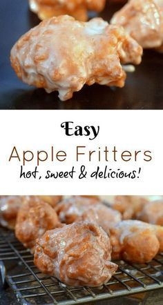 delicious fritters apple sweet easy hot Easy Apple Fritters Hot sweet deliciousYou can find Apple recipes and more on our website Beignets, Apple Fritter Recipes, Apple Fritter Bread, Apple Bread, Apple Pies, Pecan Pies, Recipe Fritter, Apple Cinnamon Bread, Cinnamon Oatmeal