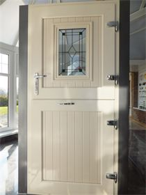 : UPVC stable door in cream