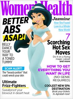If Disney Princesses Were on the Covers of <i>Women's Health</i>...  http://www.womenshealthmag.com/life/disney-princesses