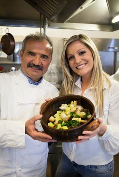 """I'm proud to show you """"Pancotto/Cooked Bread"""", a typical apulian recipe: turnips, green wild vegetables and cooked bread. Ideal during cold winter."""