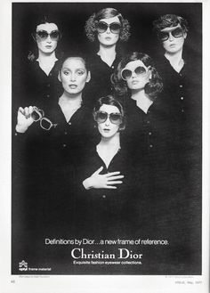 Christian Dior sunwear ad from Vogue 1977