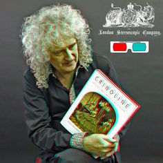Brian May And The Crinoline Book - 3D Anaglyph Photography.