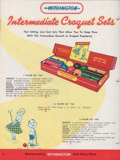 Withington intermediate croquet set
