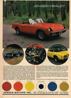 1974 Jensen Healey, mine is a 5 speed in tangerine. A very fun ride. Zodiac Killer, Ad Car, Cabriolet, Car Posters, Car Advertising, Vintage Ads, Cool Cars, Automobile, Sports
