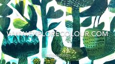 Starting with a blue green textured background in GOLDEN Fluid and Matte Medium. Este  MacLeod creates the Green Bird painting using her techniques of positive and…
