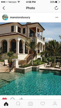 Loving the entrance to this pool and the surrounding palm trees! #PalmBeaches #realestate