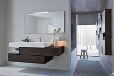 Stylistic continuity for bathroom and walk-in closet space Minimalist Bathroom Furniture, Modern Luxury Bathroom, Modern Bathroom Cabinets, Luxury Kitchen Design, Modern Bathroom Design, Bathroom Interior, Complete Bathroom Sets, Home Furnishing Stores, Bedroom Furniture Design