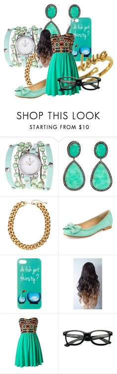 """""""party time"""" by minnieblasin ❤ liked on Polyvore featuring J/Hadley, H&M, Frye, dELiA*s, Blonde + Blonde and Kate Spade"""