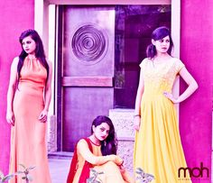 Perfect collection for your wardrobe at moh #Ahmedabad — with Priyamvada Singh and Rajvi Thacker.