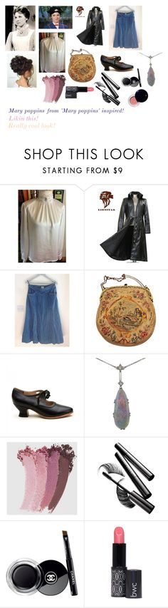 """For Scarlett (friend) - Scarlett's ideal wardrobe by me: Mary poppins from 'Mary poppins' inspired!"" by sarah-m-smith ❤ liked on Polyvore featuring Gucci, Chantecaille, Chanel and Clé de Peau Beauté"