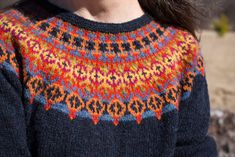 Ravelry: Helsinki Sweater pattern by Janine Bajus Jumper Knitting Pattern, Fair Isle Knitting Patterns, Knit Patterns, Hand Knitting, Motif Fair Isle, Knitting Short Rows, Icelandic Sweaters, Knit Crochet, Crochet Cats