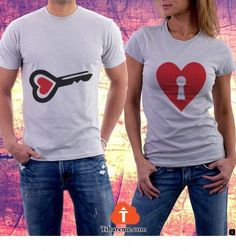 ~~Find out about customized shirts. Just click on the link for more information...... Enjoy the website!!! Cute Couple Shirts, Couple Tees, Matching Couple Shirts, Matching Couples, Great T Shirts, Family Shirts, Matching Outfits, T Shirts For Women, Couple T Shirt Design