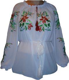 #вишиванка жіноча з квітами (Арт. 00376)