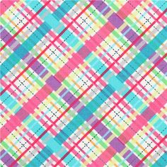 "'Lil' Bias Plaid' by Michael Miller collection ""Cute Zoo"""