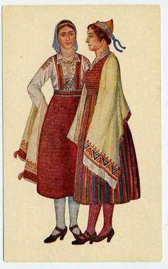 Latvian National Costumes Latvia Talsi 1926 Cirulis Salamandra Riga Postcard Riga, Folk Costume, Costumes, Bosnia, Painting, Gauche, Folklore, Countries, Pandora