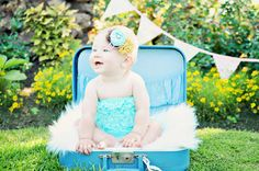 Lace Bubble Petti Romper  Aqua by DemiBlairCouture on Etsy, $22.00