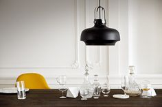 The Copenhagen Suspension Lamp was designed by the innovative Studio Space Copenhagen for Danish label AndTradition.This design house and lighting manufactu Danish Furniture, Furniture Design, Pendant Lamp, Pendant Lighting, Nautical Lamps, Berlin Design, Space Copenhagen, Copenhagen Design, Scandinavian Design