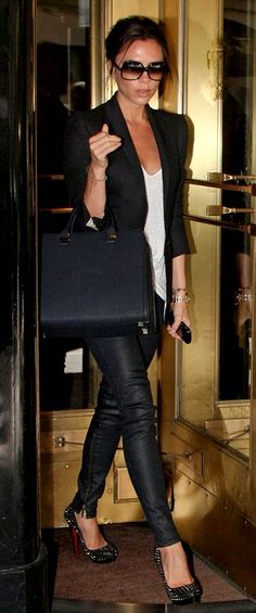 Victoria Beckham is one of the most stylish person I've ever seen, fashion inspiration.