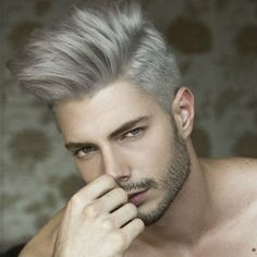 mens tapered sides dyed grey hair