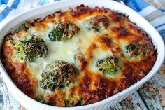 Hamburger, Sausage, Broccoli Alfredo - Low Carb #sausage #hamburger #broccoli #Alfredo #low-carb #justapinchrecipes