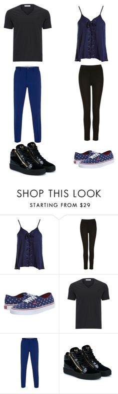 """""""Untitled #207"""" by kassidyrobinson on Polyvore featuring Sans Souci, Vans, Versace, Paul Smith and Giuseppe Zanotti"""
