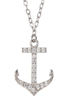 CZ Anchor Charm Chain Necklace from HauteLook on Catalog Spree