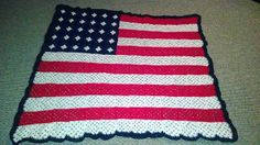 Ravelry: StitchAngel's American Flag Granny Afghan