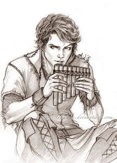 This is amazing art of OUAT Peter Pan! (And the drawing is not bad either… lol) ;