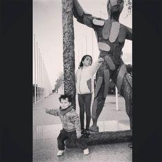 """""""Marc"""" o su interpretación infantil #barcelona #arteurbano #escultura"""
