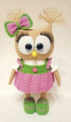 Cute Owl in Dress  Amigurumi - Free English Pattern