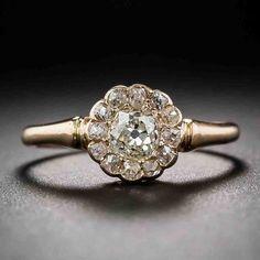 Rose Gold Art Deco Engagement Rings