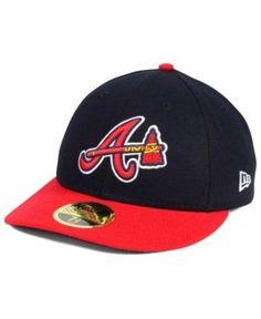 New Era Atlanta Braves Low Profile Ac Performance 59FIFTY Cap - Navy/Red 7 3/8