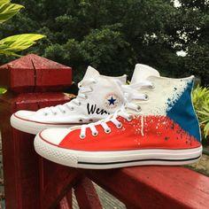 0d044a073181a3 Converse Hand Painted Canvas Sneakers Czech Flag Design Custom Shoes