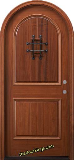 Arch top wood door. www.thedoorkings.com