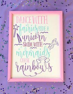 Hey, I found this really awesome Etsy listing at https://www.etsy.com/listing/518762157/mermaid-wall-decor-unicorns-fairies