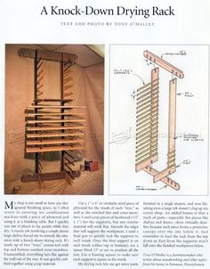 #1381 Knock-Down Drying Rack - Finishing and Decoration