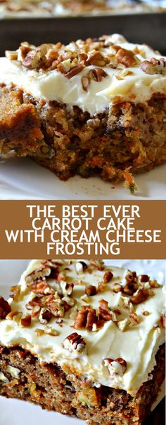 Recipe The Best Ever Carrot Cake with Cream Cheese Frosting - Al. - Recipe The Best Ever Carrot Cake with Cream Cheese Frosting – All Recipe Recipe T - Cream Cheese Desserts, Cream Cheese Recipes, Cake With Cream Cheese, Cream Cheeses, Cheesecake Recipes, Dessert Recipes, Frosting Recipes, Carrot Cake Frosting, Dessert Blog