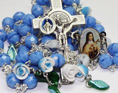 Ste. Therese of the Child Jesus Rosary. Made by Amy Hoffman of Yellowknife, NT.
