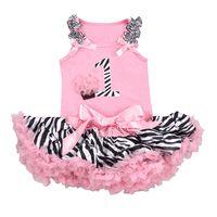 1st.  Birthday Zebra Tutu Set